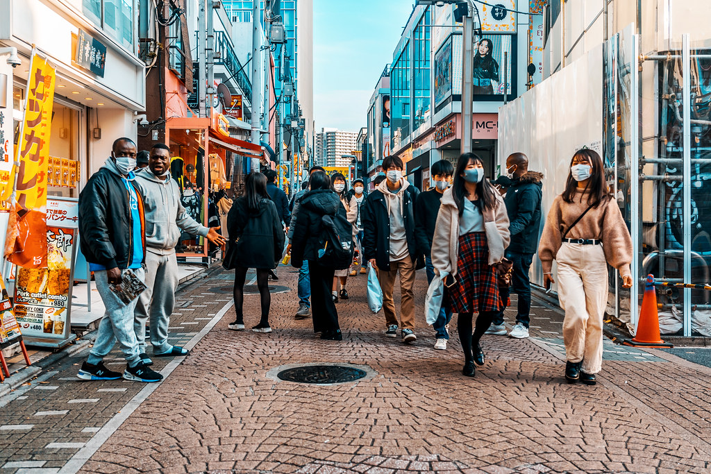 At Takeshita Street in Harajuku : 原宿 竹下通りにて
