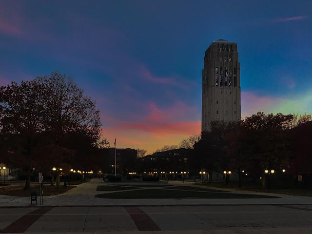 Burton Tower Sunset