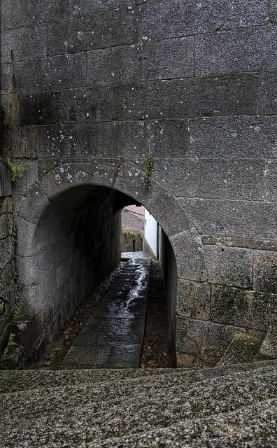 Pasadizo hacia el río Miño - Tuy (Pontevedra)-