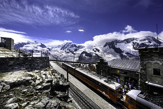 Last train station Gornergrat - Zermatt - Wallis - Switzerland