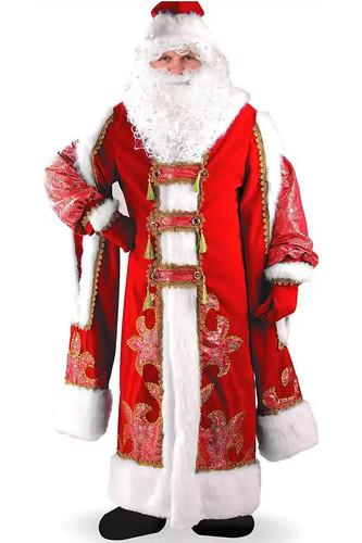 Мужской карнавальный костюм Дед Мороз Боярский