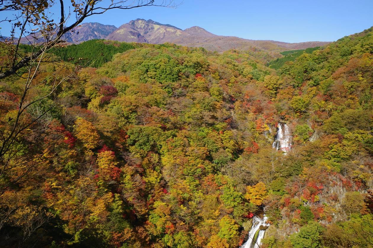 秋の日光・霧降の滝の紅葉