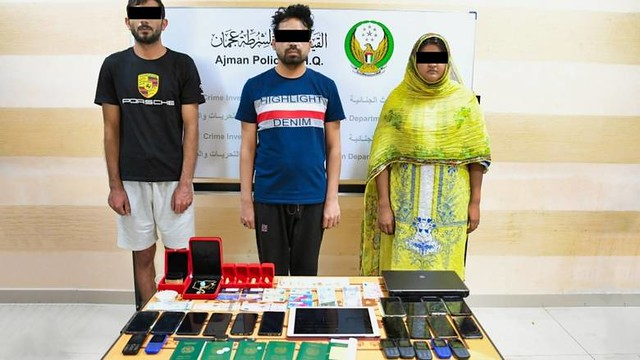 5836 A gang with SR 2.8 million phone fraud arrested in Ajman 01