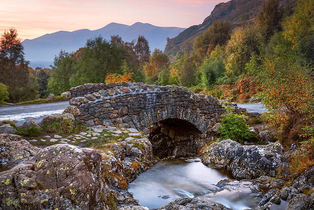 Ashness Bridge, Watendlath, Keswick, Lake District, Cumbria, England