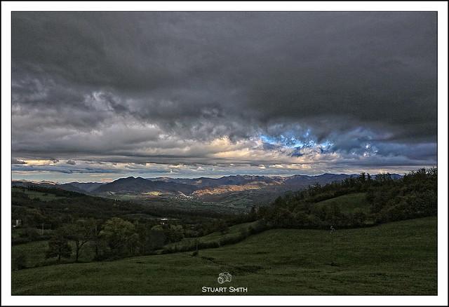 Panorama, Via Traversa, Firenzuola, Tuscany, Italy