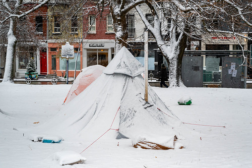 Camp on Queen St.
