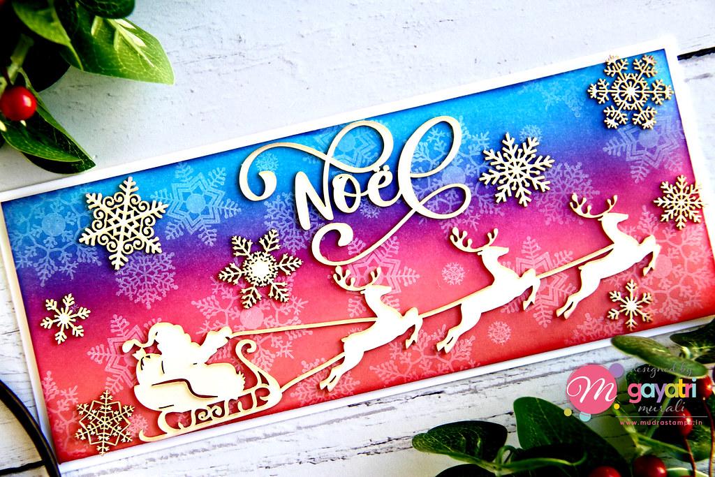 Noel card closeup