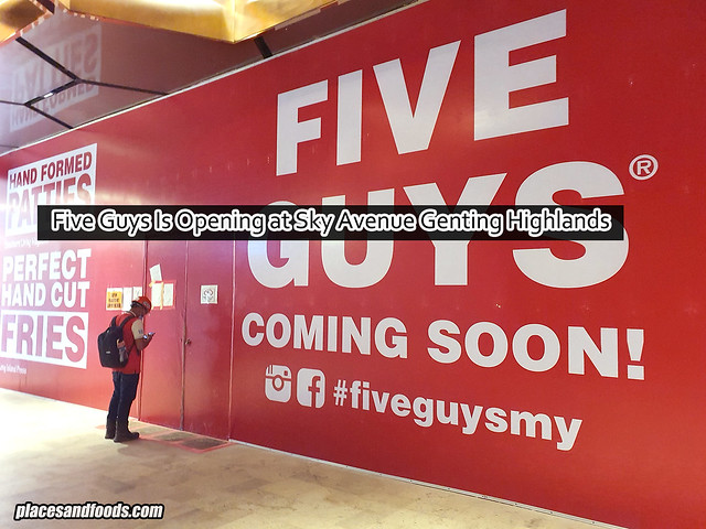 Five Guys Is Opening at Sky Avenue Genting Highlands
