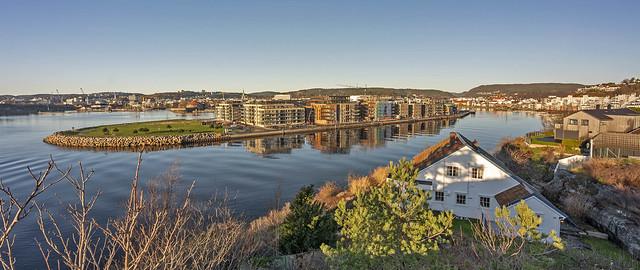 View towards Tangen, Kristiansand, Norway