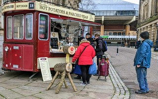 Christmas at the hot potato tram in Preston | by Tony Worrall
