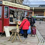 Christmas at the hot potato tram in Preston