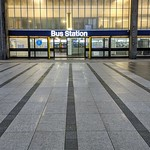 Preston Bus Station in the evening