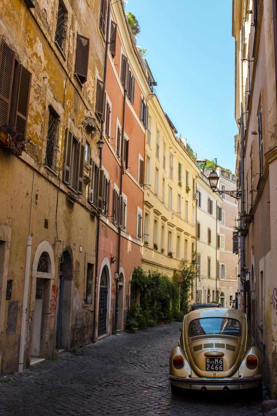 A beautiful, old, Trastevere Street