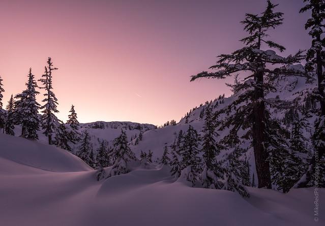 Last Light Snow Curves