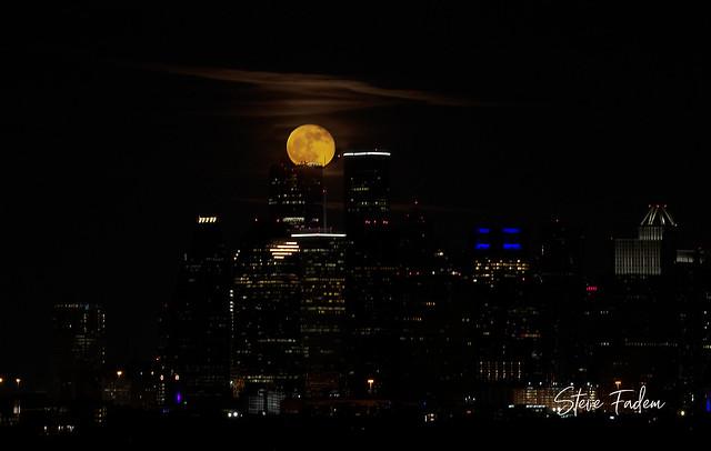 Halloween Blue Moon over Houston