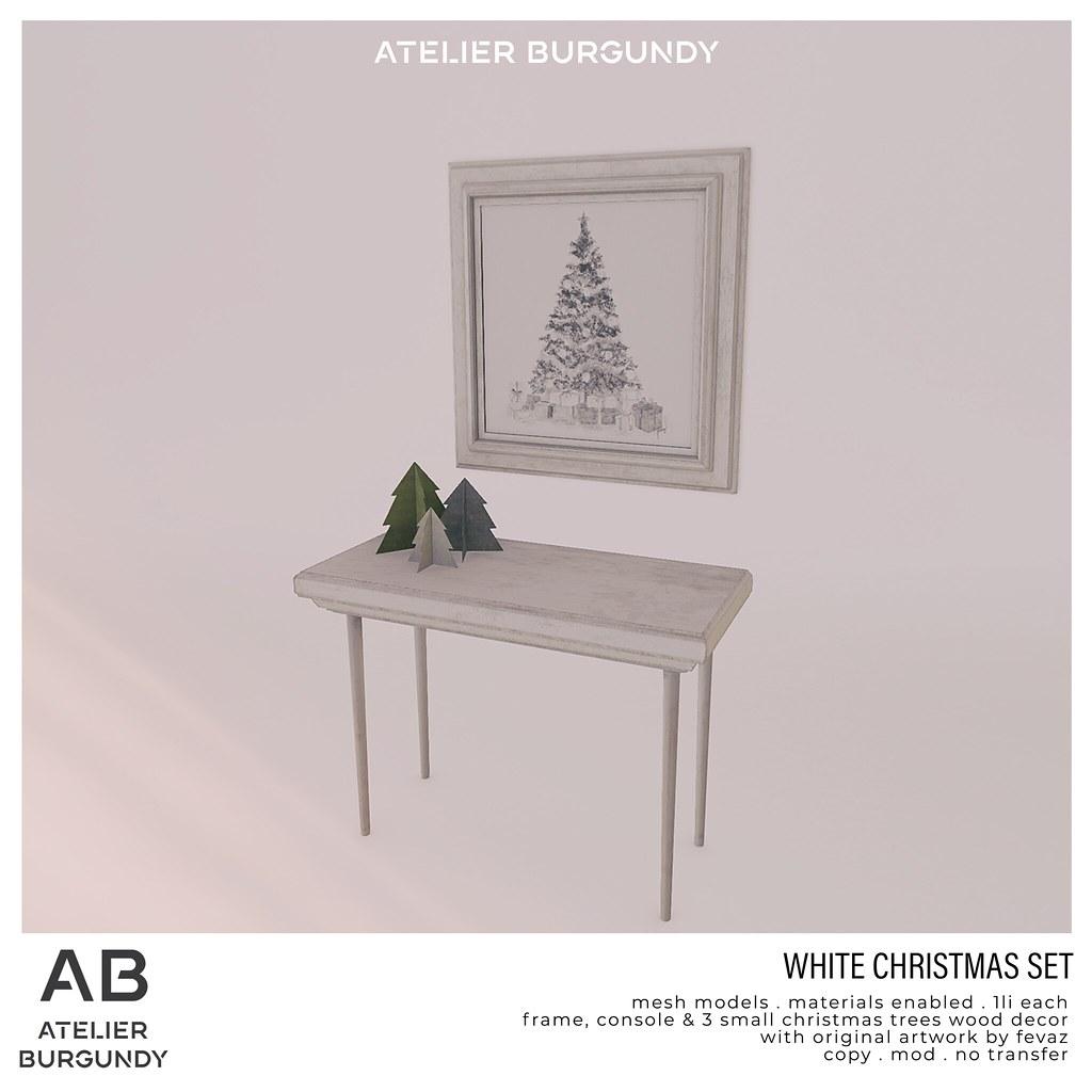 Atelier Burgundy . White Christmas