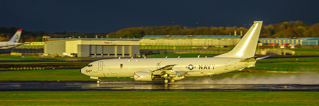 US Navy Poseidon P8 takes Off At Prestwick