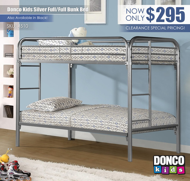 Donco Kids Silver Bunk Full over Full_4510