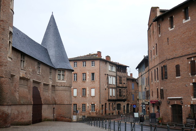 Au hasard des rues, palais de la Berbie, Albi, Tarn, Occitanie.
