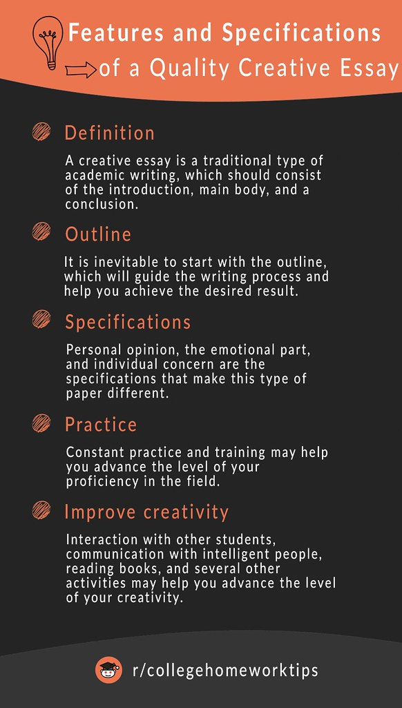 text about writing perfect creative essay
