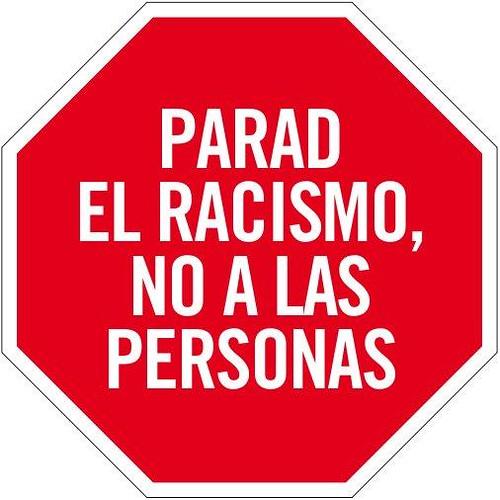 parar el racismo, no a las personas