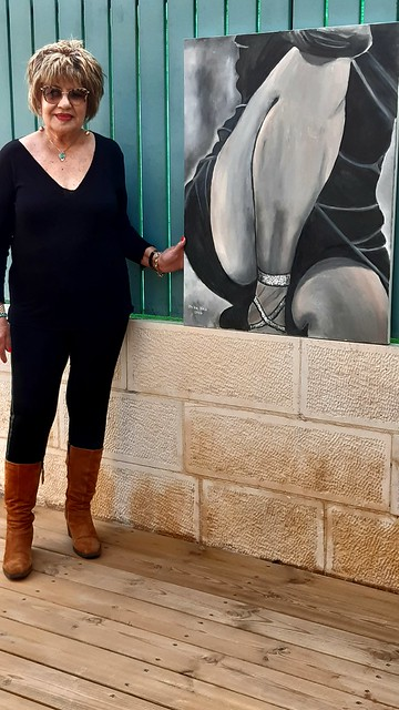 פרידה פירו Frida piro art יוצרת אמנית ציירת ישראלית עכשווית מודרנית אמנות ישראלית ציורי נשים וינטאז