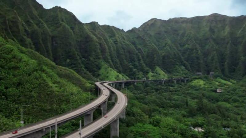 Oahu Viaducts road