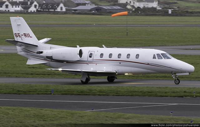 JetServiceNL Cessna 560 Citation XLS SE-RIL @ Isle of Man Airport (EGNS/IOM)