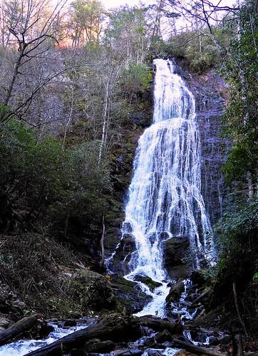 falls waterfall waterfalls mingofalls nc northcarolina cherokee cherokeenation bigcove sunrise fall autumn november flow forest smokies p1000 coolpixp1000 nikoncoolpixp1000 jennypansing explore explored