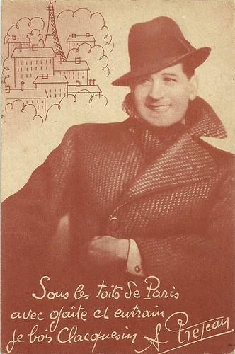 Albert Préjean, publicity for Clacquesin