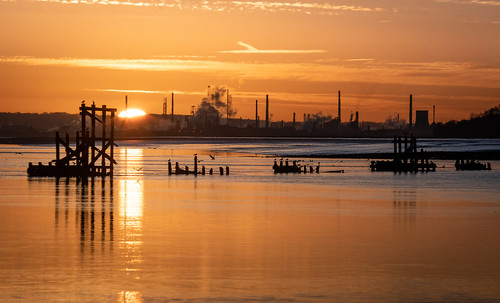eastham ferry sunrise stanlow refinery river mersey sony a7rii skyline sky water sea wirral cheshire