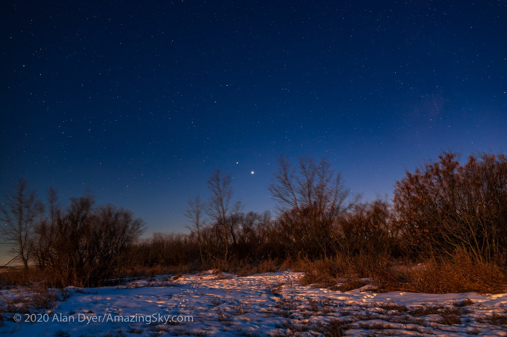 Jupiter and Saturn Nearing Conjunction (Dec 1, 2020)