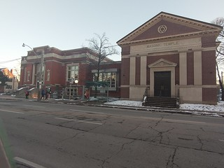 Annette Street Public Library and West Toronto Masonic Temple #toronto #annettestreet #thejunction #highparknorth #architecture #westtorontomasonictemple #annettestreetpubliclibrary
