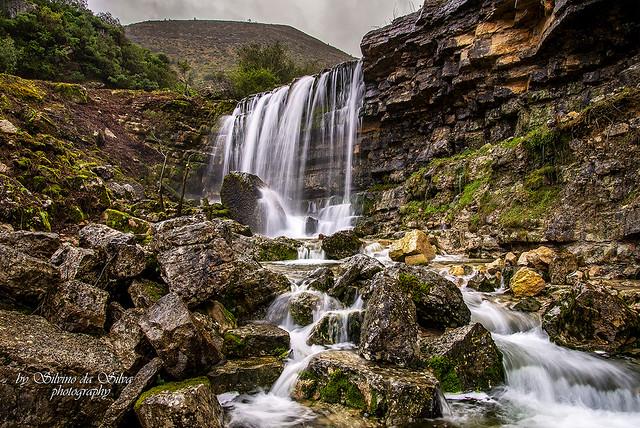 Waterfall in Fornea, Alcaria, Porto de Mós. Leiria, Portugal