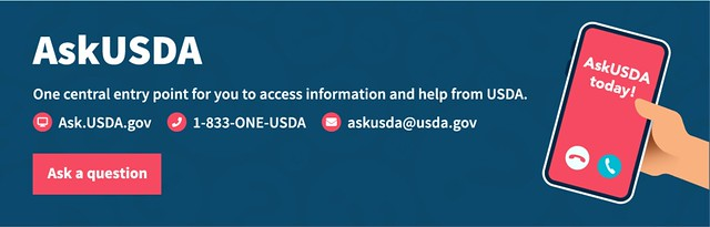 Ask USDA contacts graphic