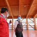 El Subsecretario  de Obras Públicas, Cristobal Leturia, realiza un recorrido por la Escuela Collin Alto, Vilcun , en La Araucania.