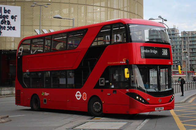 2508 CTPlus on the route 388 to London Bridge