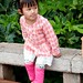 A little Chinese girl by the Green Lake (Cui Hu) in Kunming, Yunnan, China