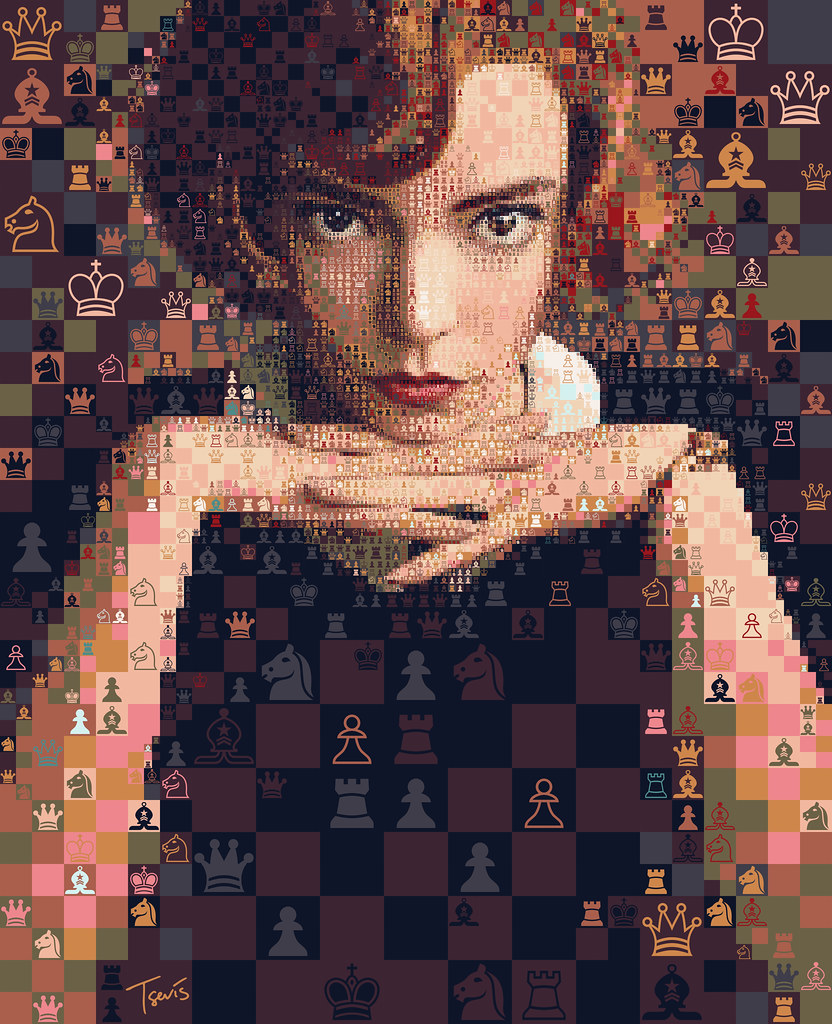The Queen's Gambit: Let's play! | An experimental mosaic por… | Flickr