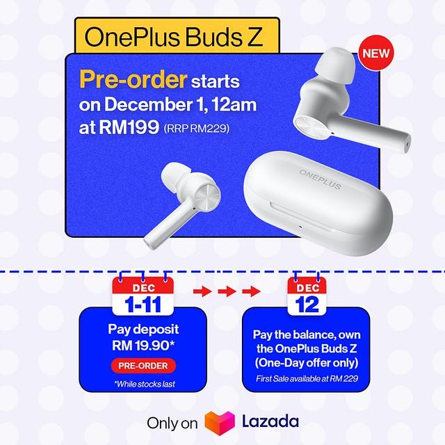 OnePlus Buds Z Kini Hadir Buat Pasaran Tempatan Dengan Harga RM229