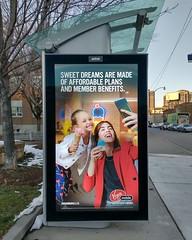 Bus stop ad, Keele and Annette (1) #toronto #ttc #busshelter #ad #virginmobile #eurythmics #sweetdreams
