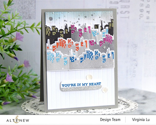 Altenew-MD Pretty City -Featured Sentiments Die Set-001