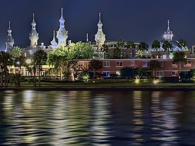 University of Tampa, Plant Hall, 401 W Kennedy Blvd, Tampa, Florida, USA / Architect: John A. Wood / Construction Period: 1888–1891 / Architectural Style: Moorish Revival / Added NRHP: December 5, 1972