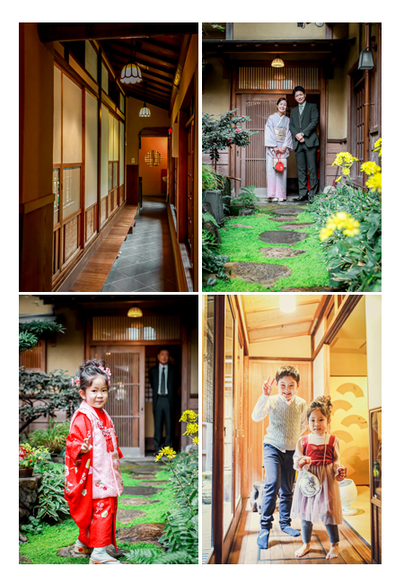 名古屋市東区の料亭(懐石料理店)で七五三の後のお食事会