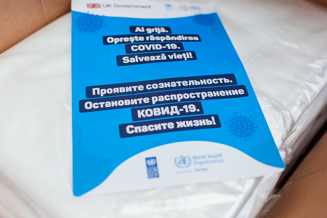 Tiraspol handover event of PPEs and food packages, by UK