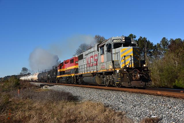KCS GP38-2 2023-Rankin Turn