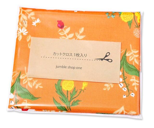 カットクロス Windham Fabrics Heather Ross 20th Anniversary 42207A-10 Orange Bouquet