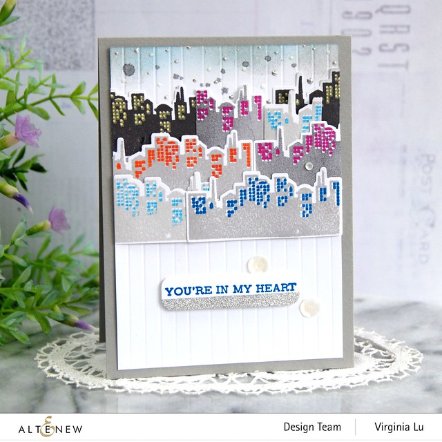 Altenew-MD Pretty City -Featured Sentiments Die Set