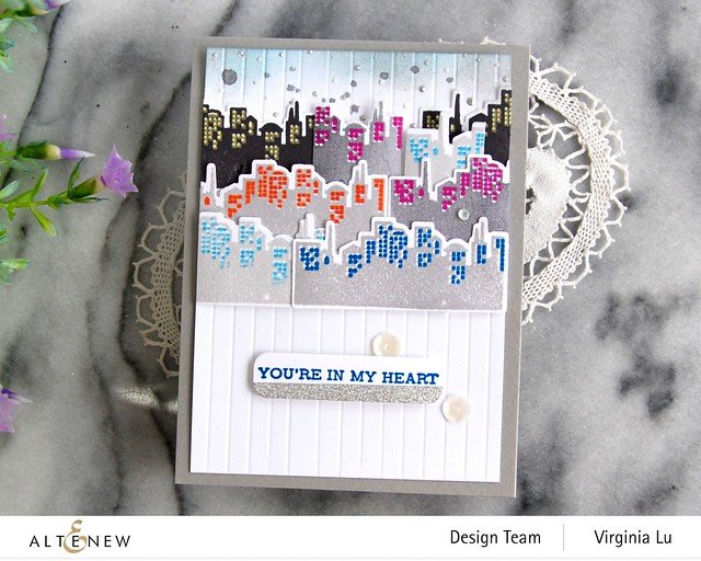 Altenew-MD Pretty City -Featured Sentiments Die Set-002