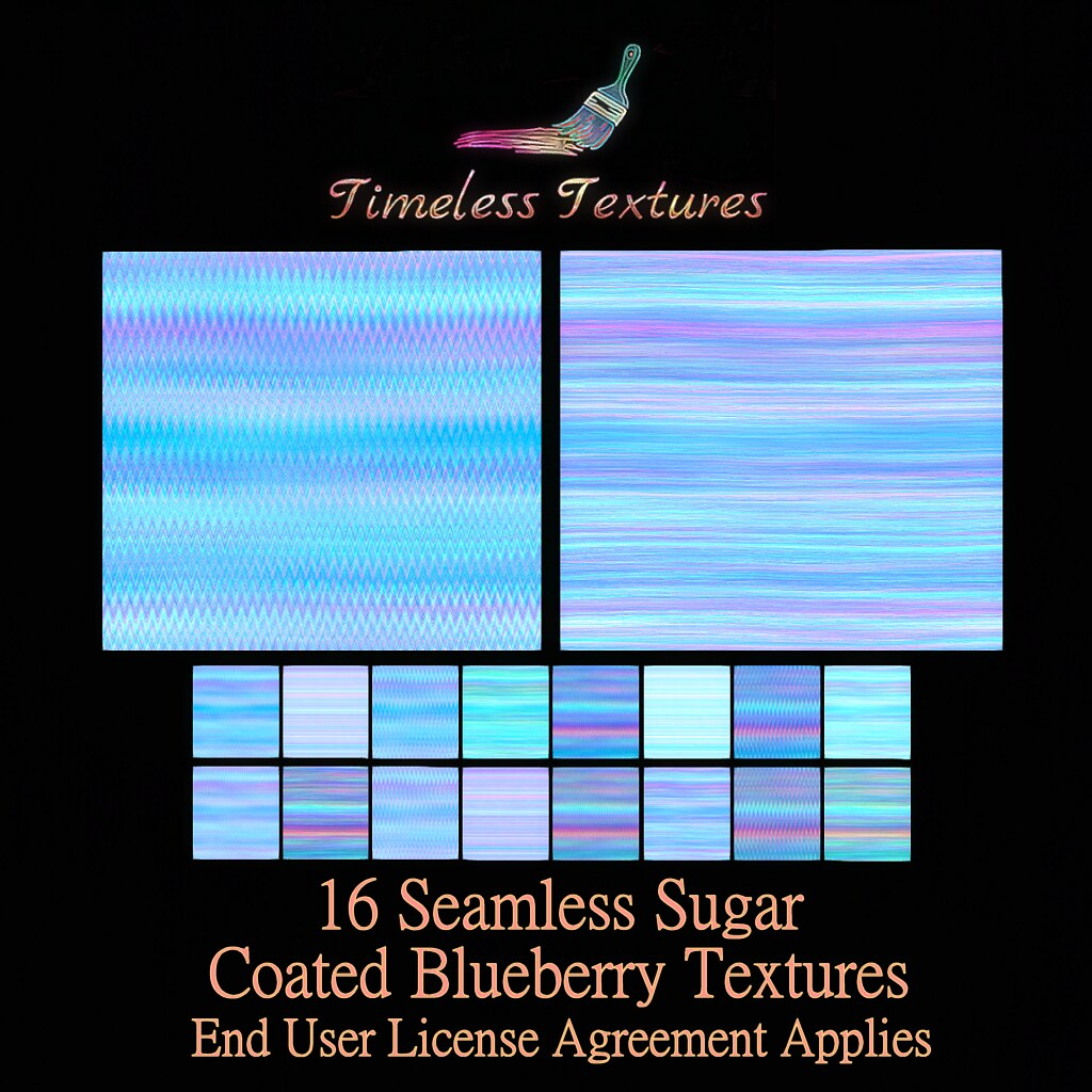 TT 16 Seamless Sugar Coated Blueberry Timeless Textures